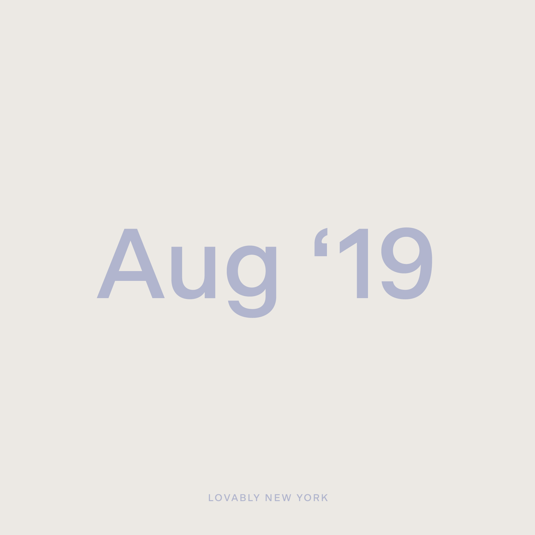 August '19
