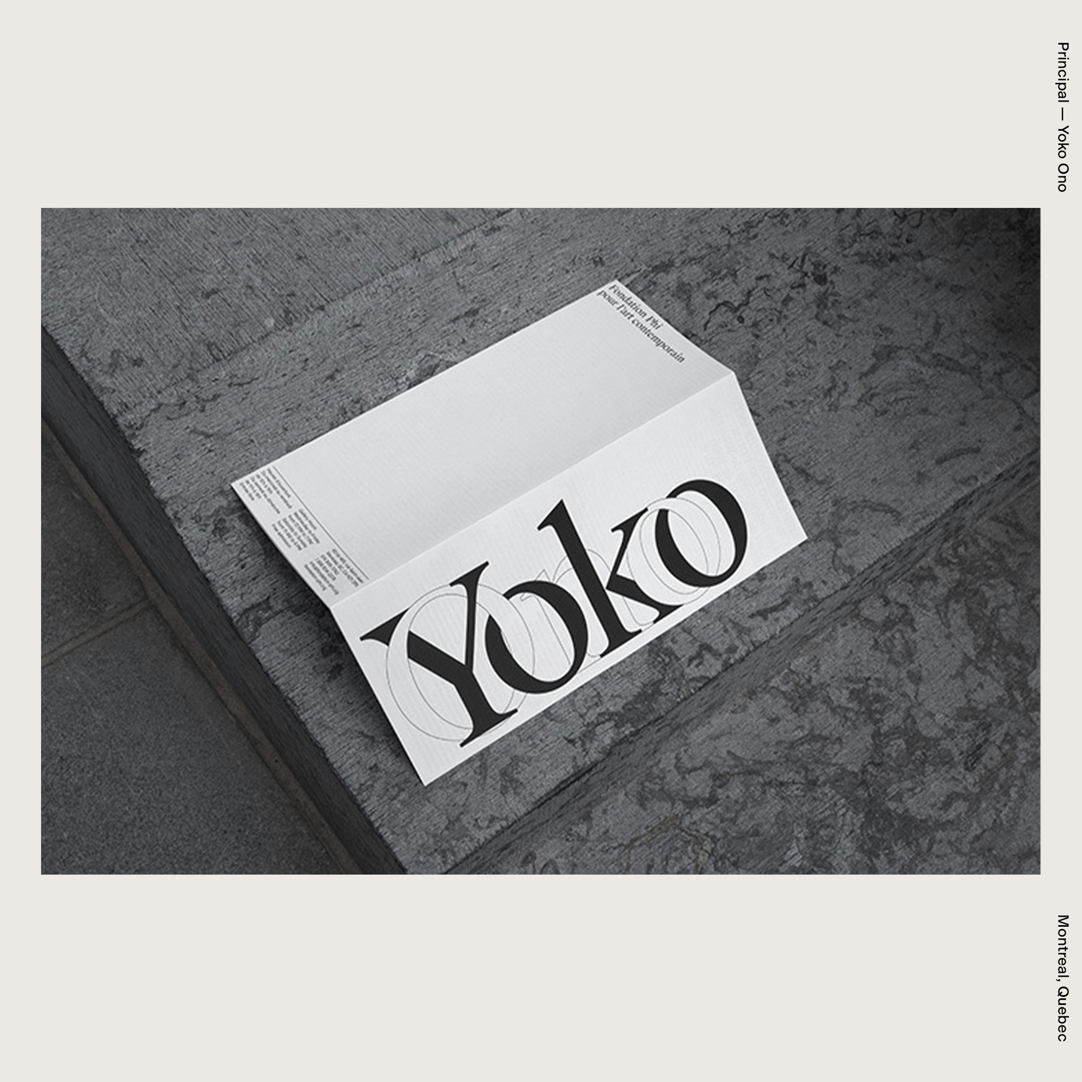 Principal — Yoko Ono