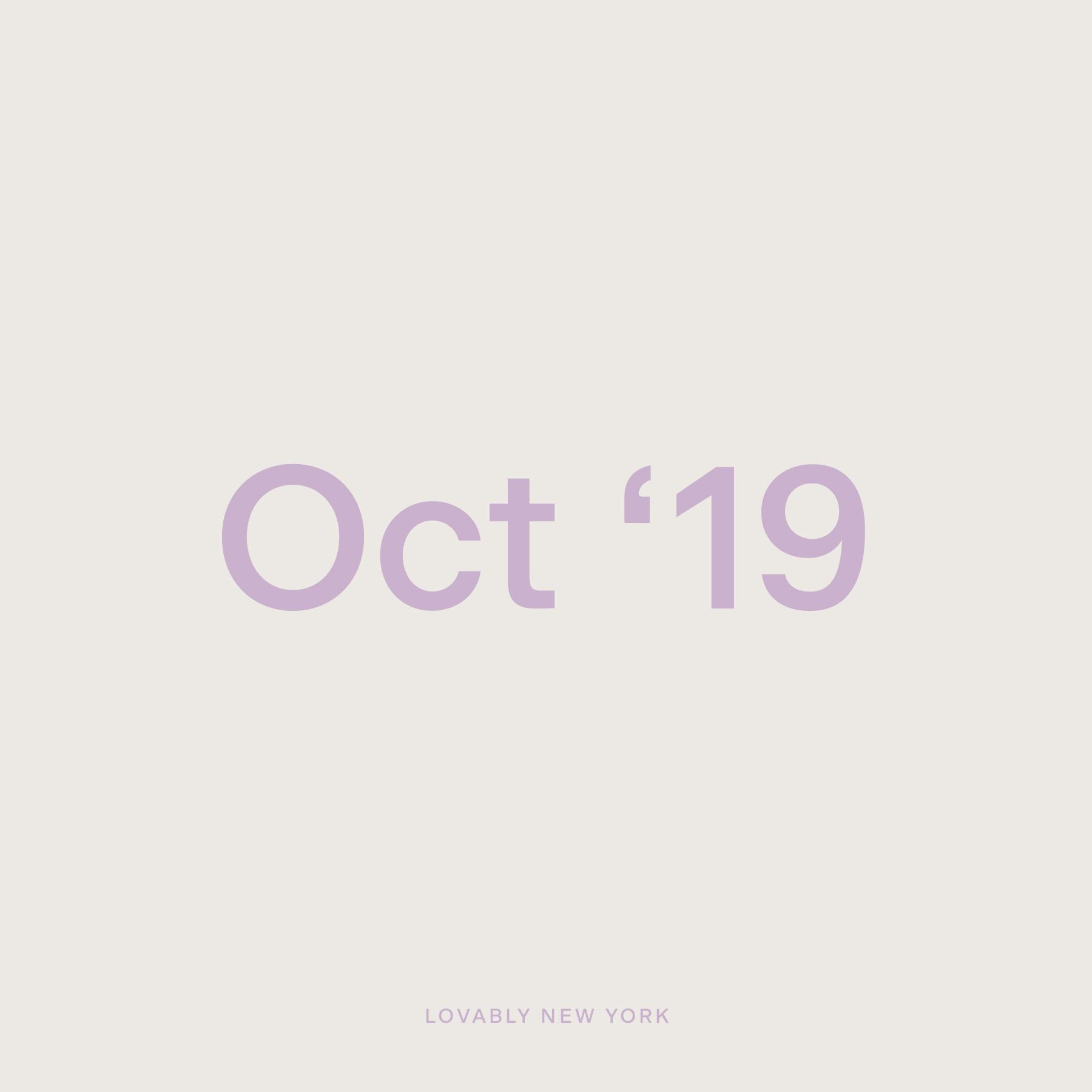 October '19