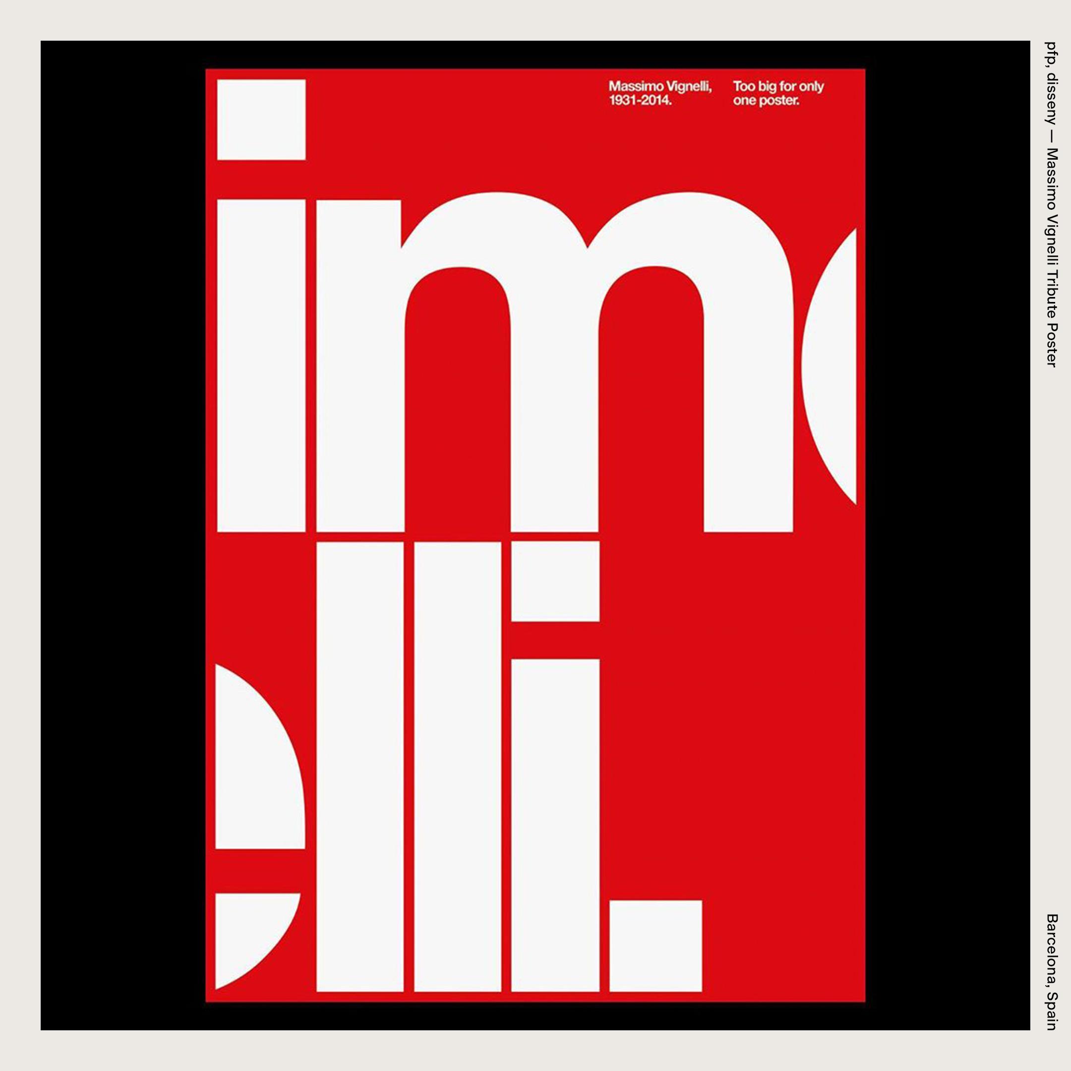 pfp, disseny — Massimo Vignelli Tribute Poster