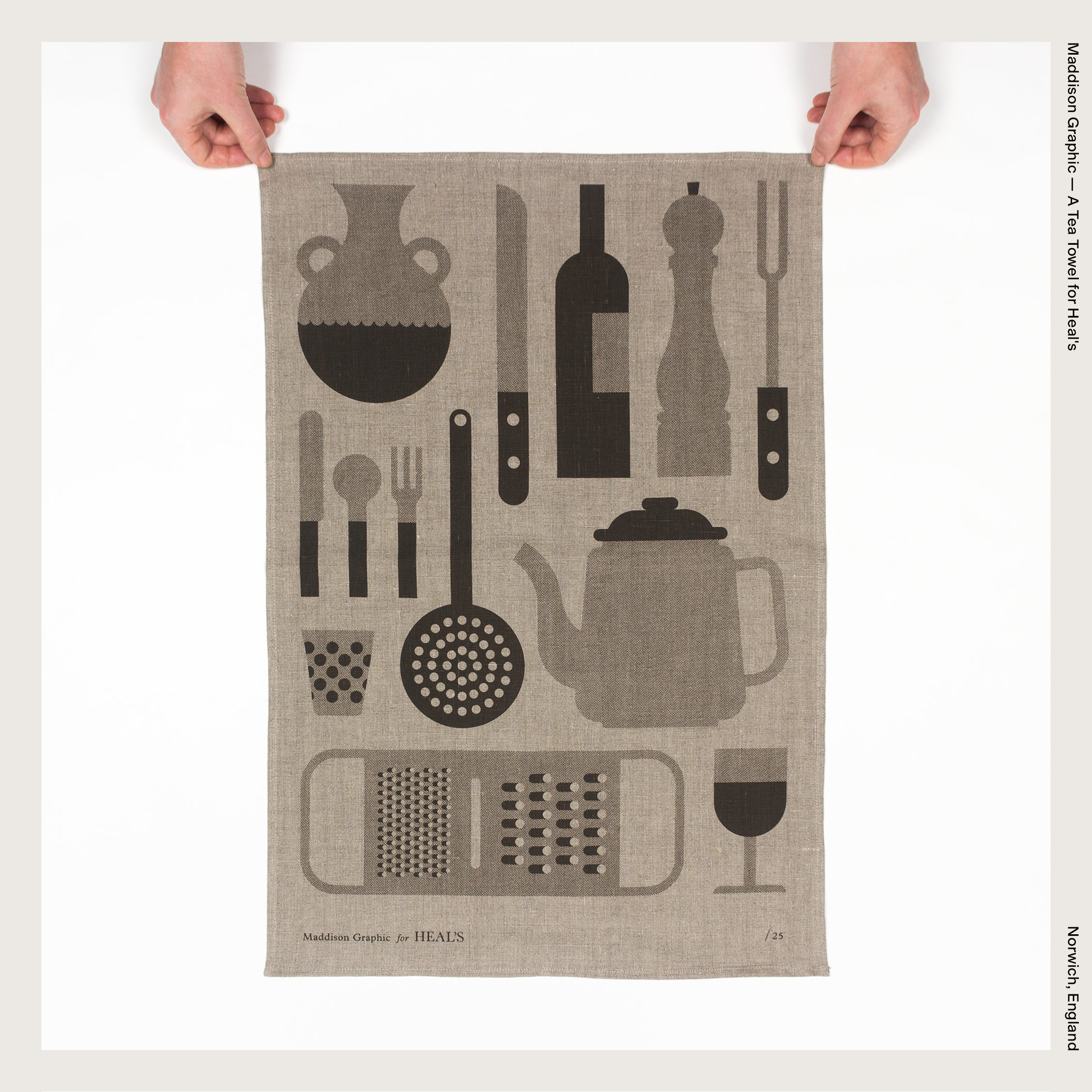 Maddison Graphic — A Tea Towel for Heal's