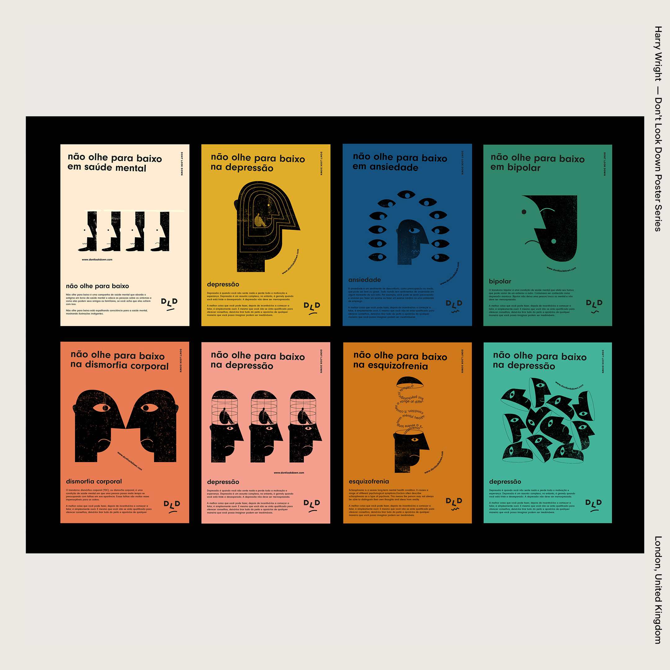 Harry Wright — Don't Look Down Poster Series