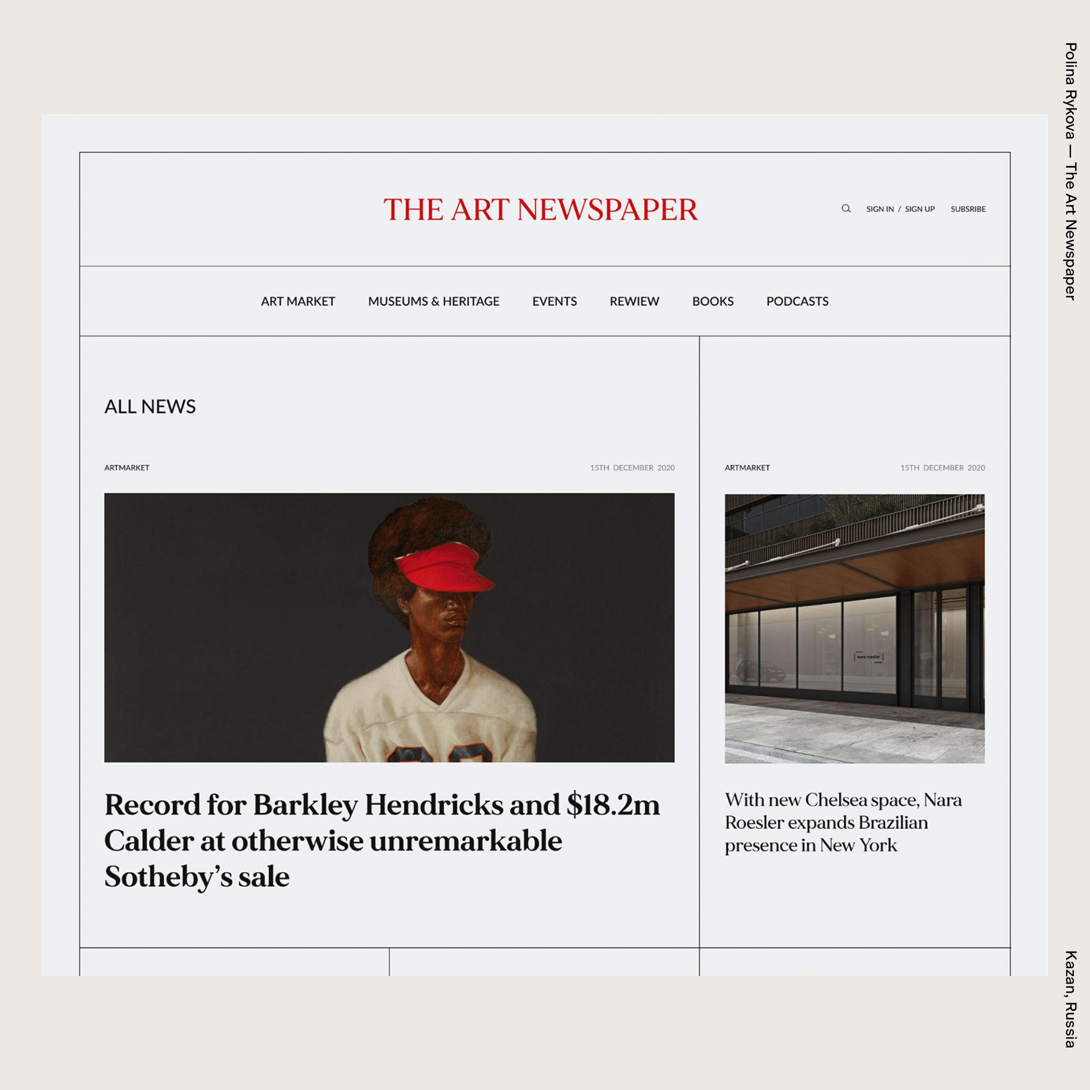 Polina Rykova — The Art Newspaper
