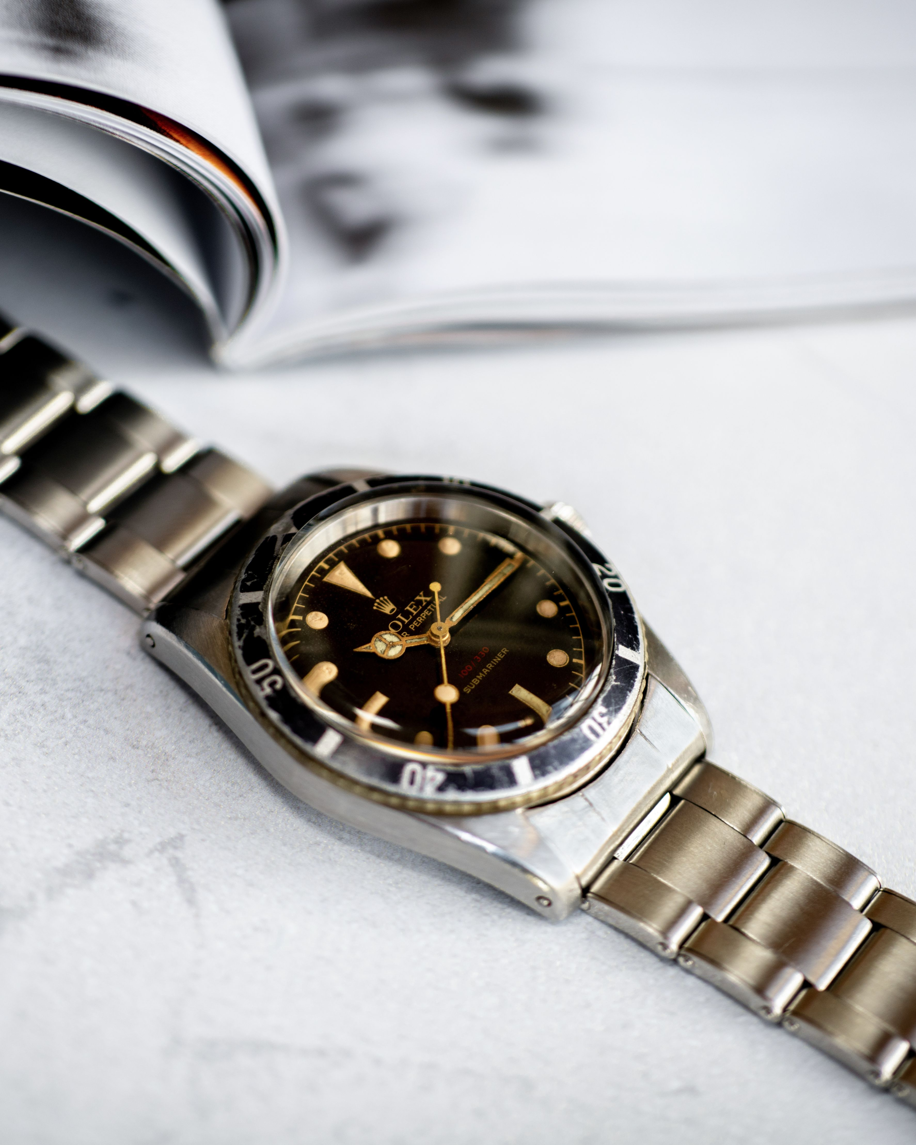 Rolex Submariner 6536/6538 red depth dual reference