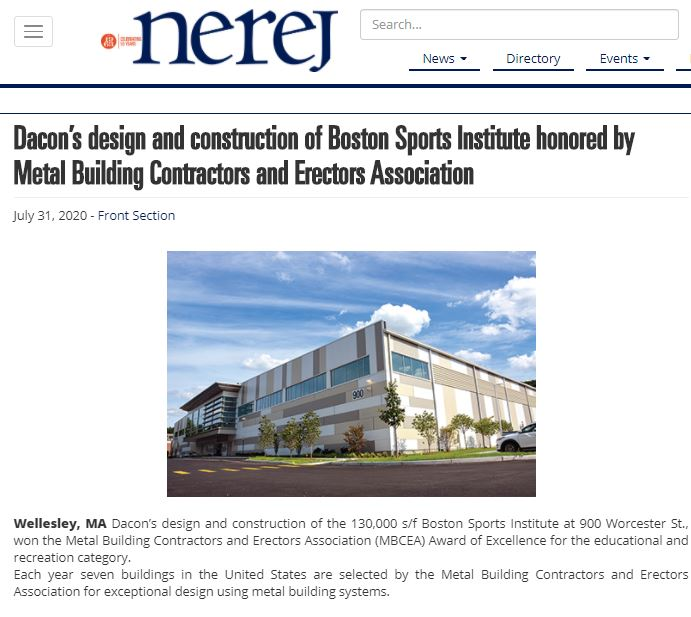 Boston Sports Institute Honored by MBCEA