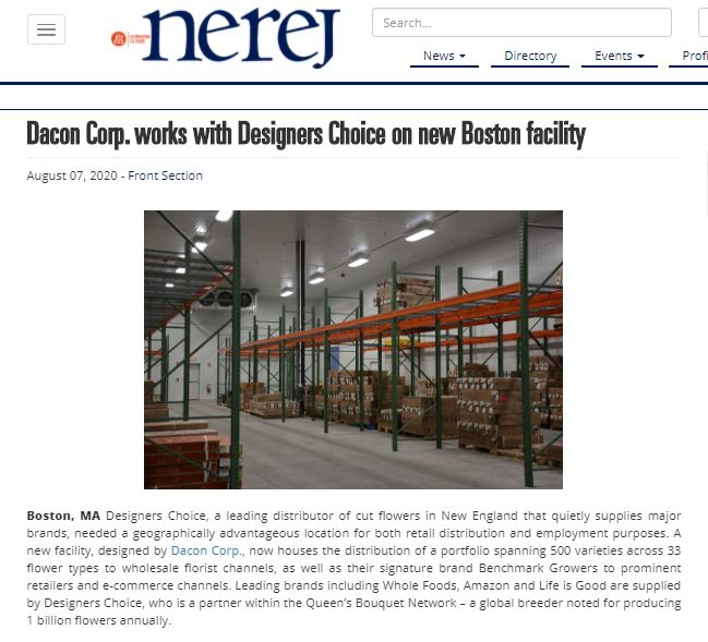 Dacon Works with Designers Choice on New Boston Facility