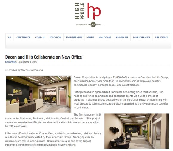 Dacon and Hilb Collaborate on New Office