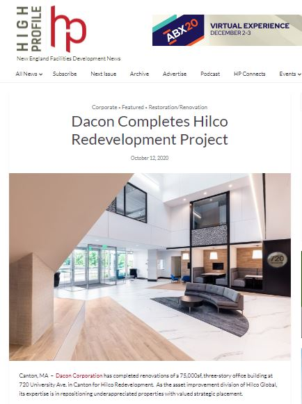 Dacon Completes Hilco Redevelopment Project