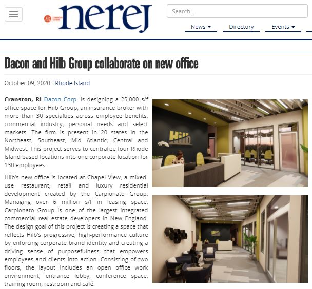 Dacon and Hilb Group Collaborate on New Office