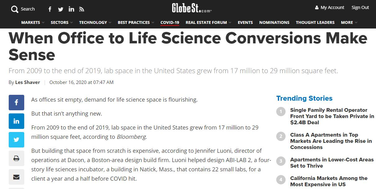 When Office to Life Science Conversions Make Sense