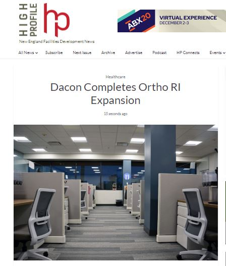 Dacon Completes Ortho RI Expansion
