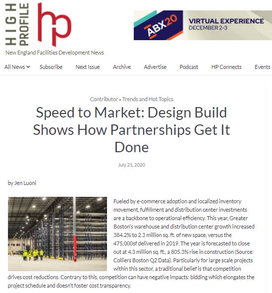 Speed to Market: Design Build Shows How Partnerships Get It Done