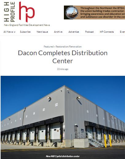 Dacon Completes Distribution Center