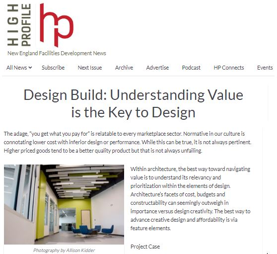 Design Build: Understanding Value is the Key to Design