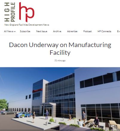 Dacon Underway on Manufacturing Facility