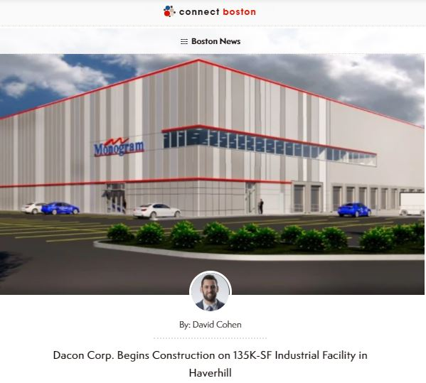 Dacon Corp. Begins Construction on 135K-SF Industrial Facility in Haverhill