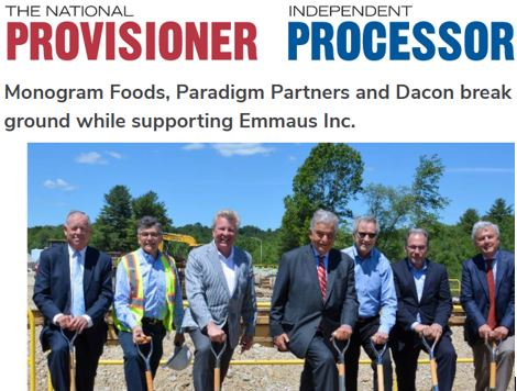 Monogram Foods, Paradigm Partners and Dacon Break Ground While Supporting Emmaus Inc.