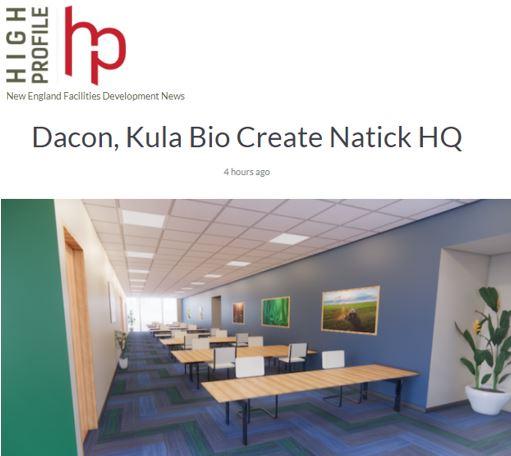 Dacon, Kula Bio Create Natick Headquarters