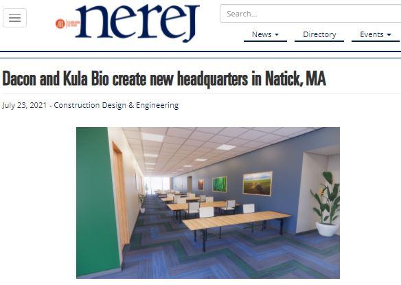 Dacon and Kula Bio Create New Headquarters in Natick