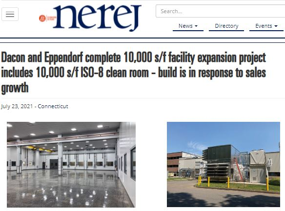 Dacon and Eppendorf Complete Facility Expansion