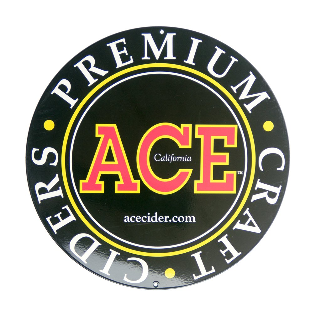 ACE Cider Metal Sign, Round
