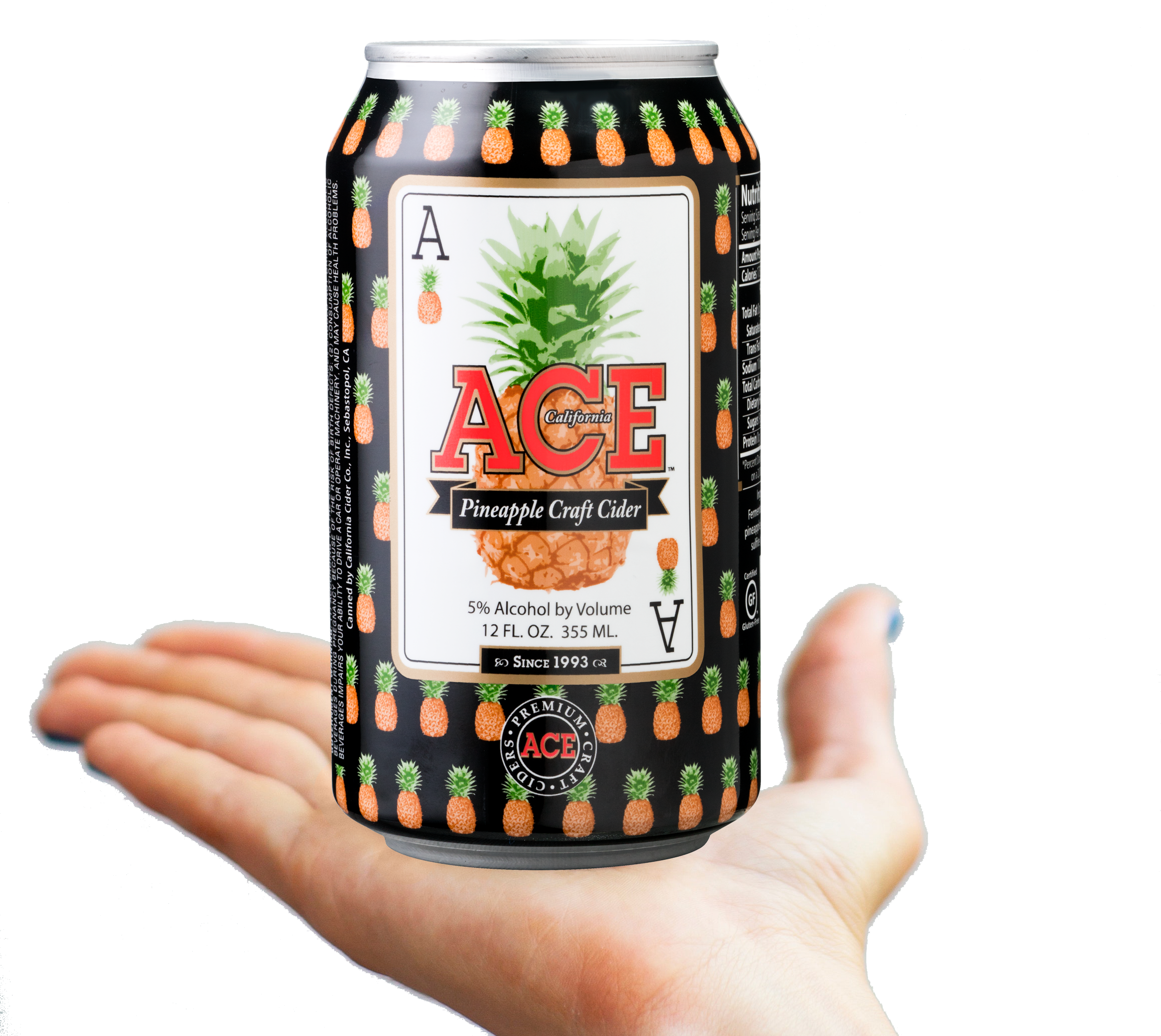 ACE Cider Pineapple Craft Cider on hand