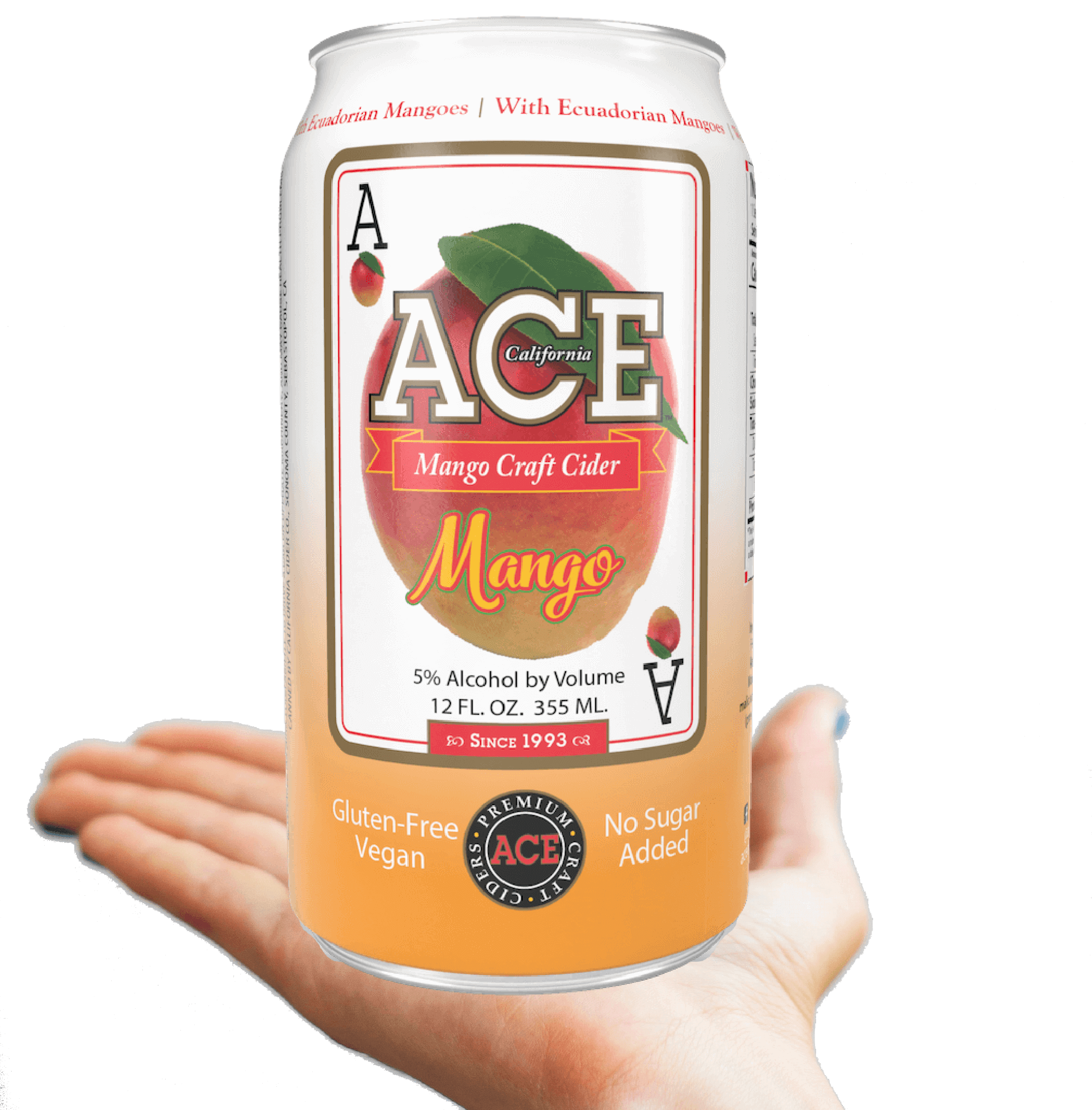 ACE Cider Mango Cider on hand