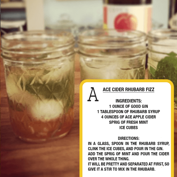ACE Cider Rhubarb Fizz