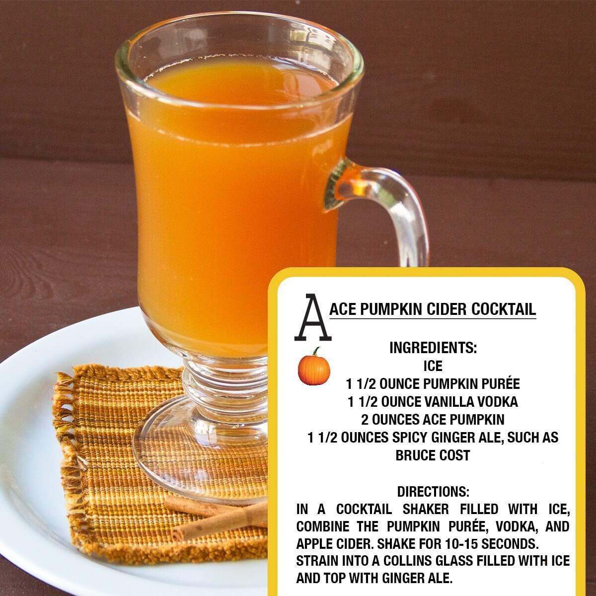 ACE Pumpkin Cider Cocktail