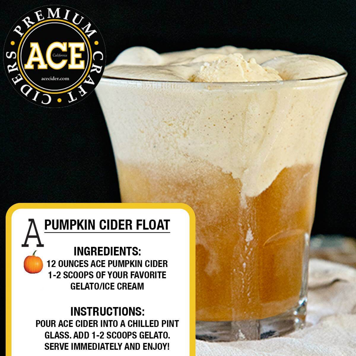 ACE Pumpkin Cider Float
