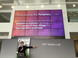 Amber Case introduces Calm Technology during a special edition CyborgCamp Unconference at MIT's Media Lab in Cambridge, MA.