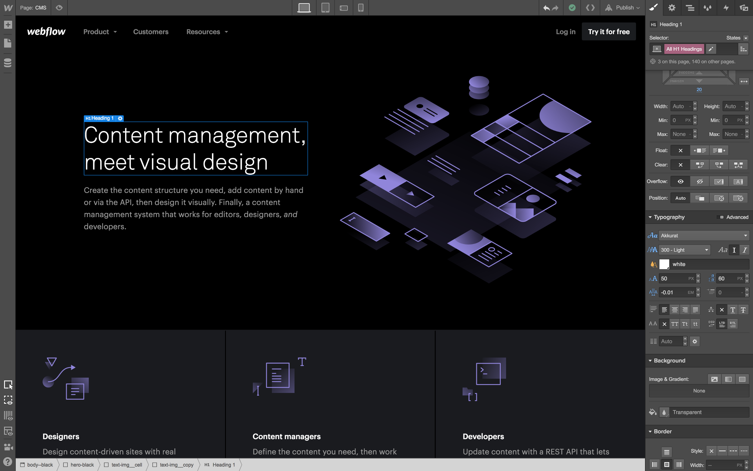 Falling for Webflow | Personal Web Archive