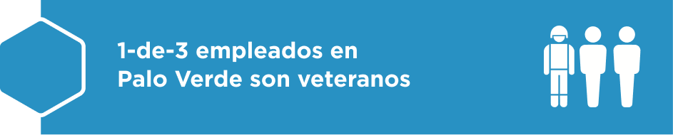 1-de-3 empleados en Palo Verde son veteranos.