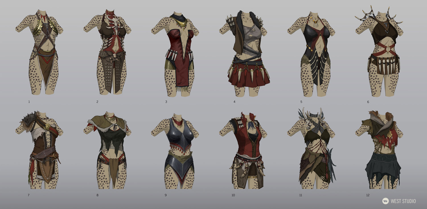 Character Concepts, Costume Design, Props