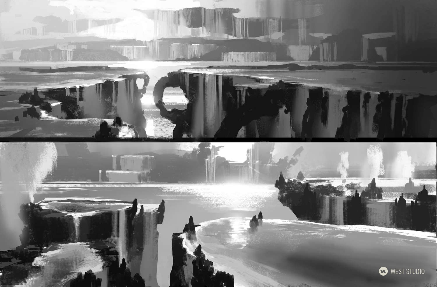 Environment Concepts, Location Design, Fantasy, Theme Park Attraction