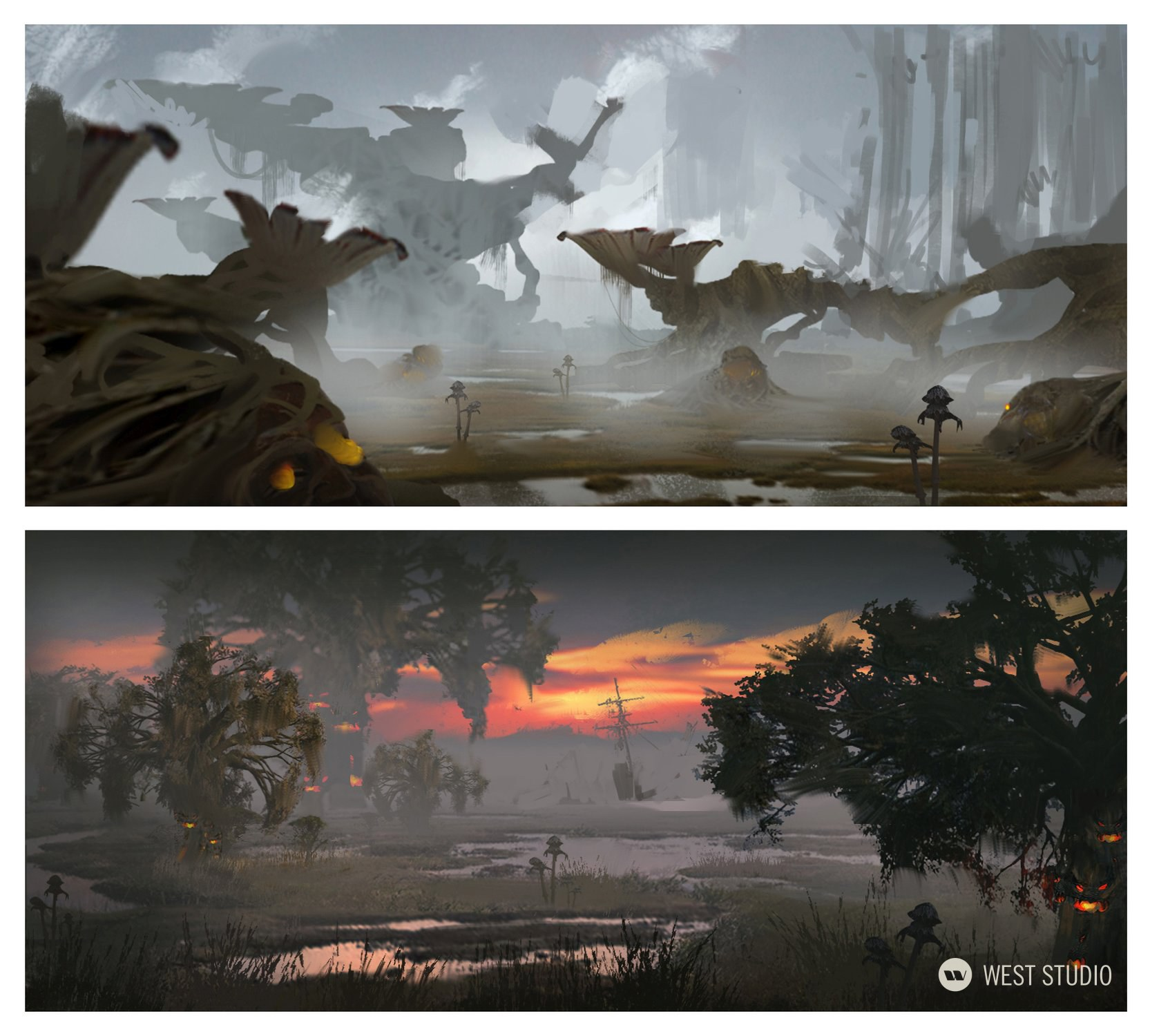 Environment Concepts, World Building, Flora and Fauna Design