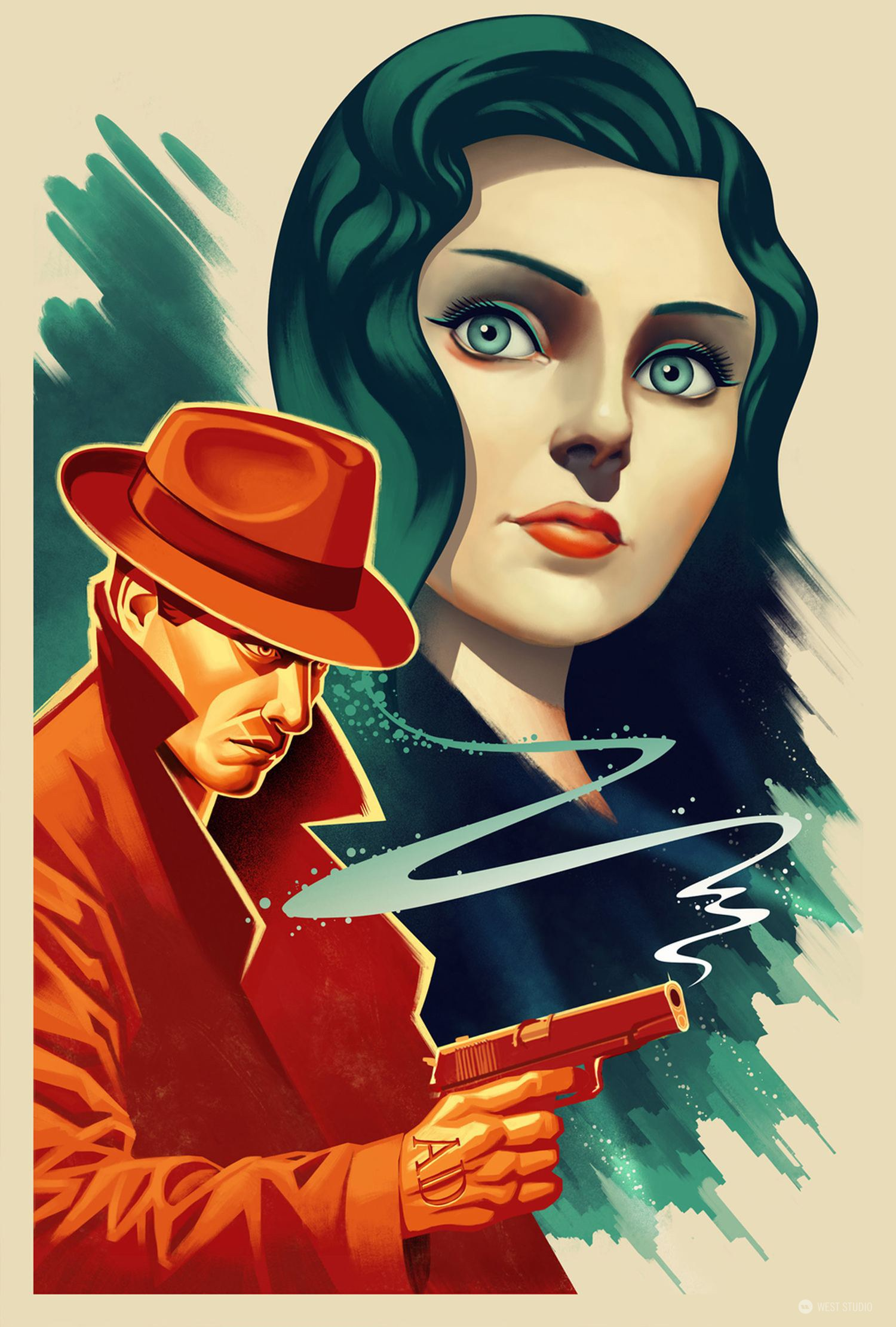 Bioshock, portraits, illustration, marketing, rendering, in-game art