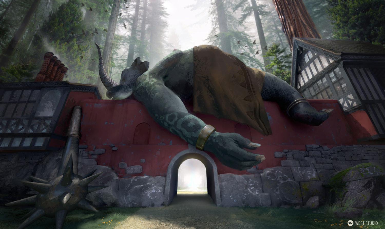 giant, gate, ogre, monster