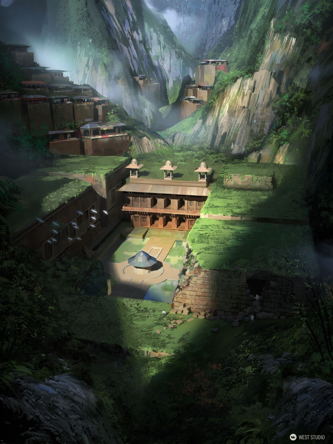 temple, palace, overgrown, adventure, discovery, abandoned