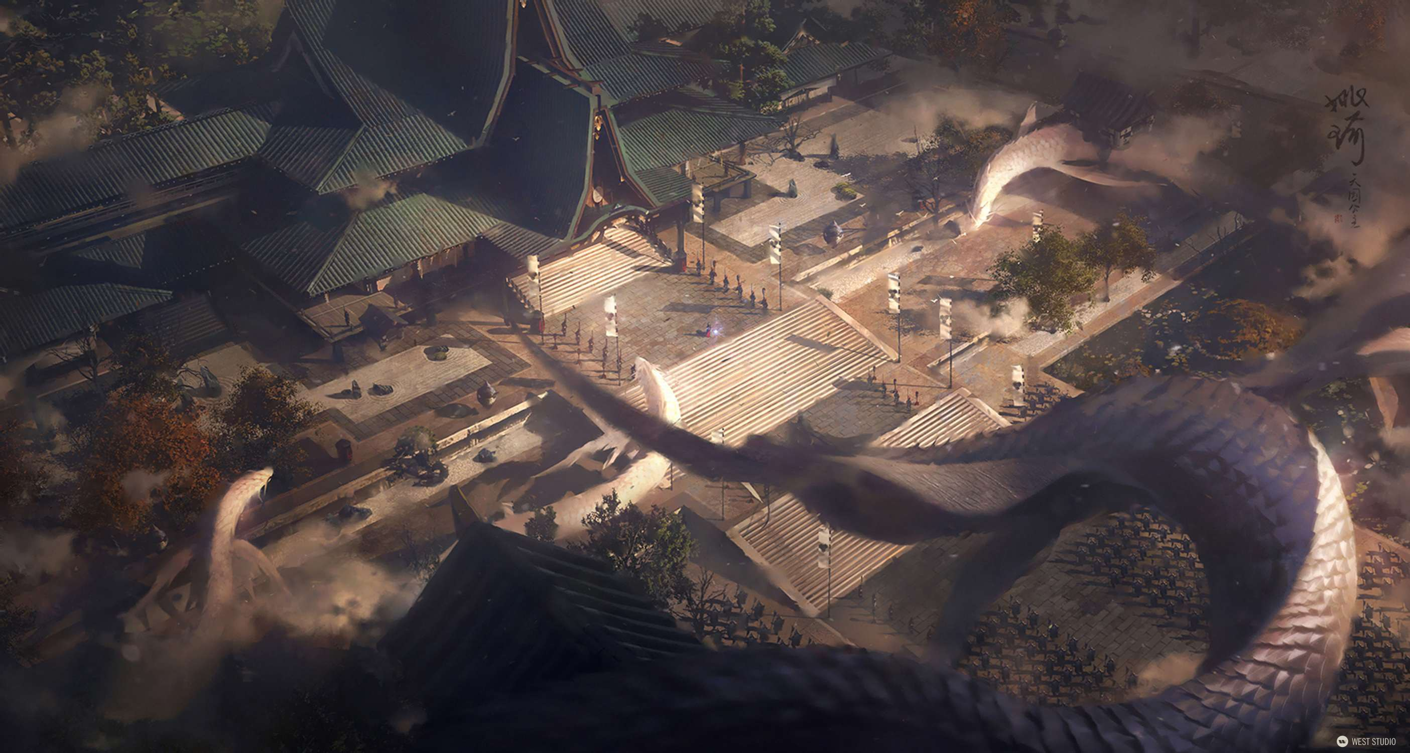 temple, chinese, mythology, dragon, empire