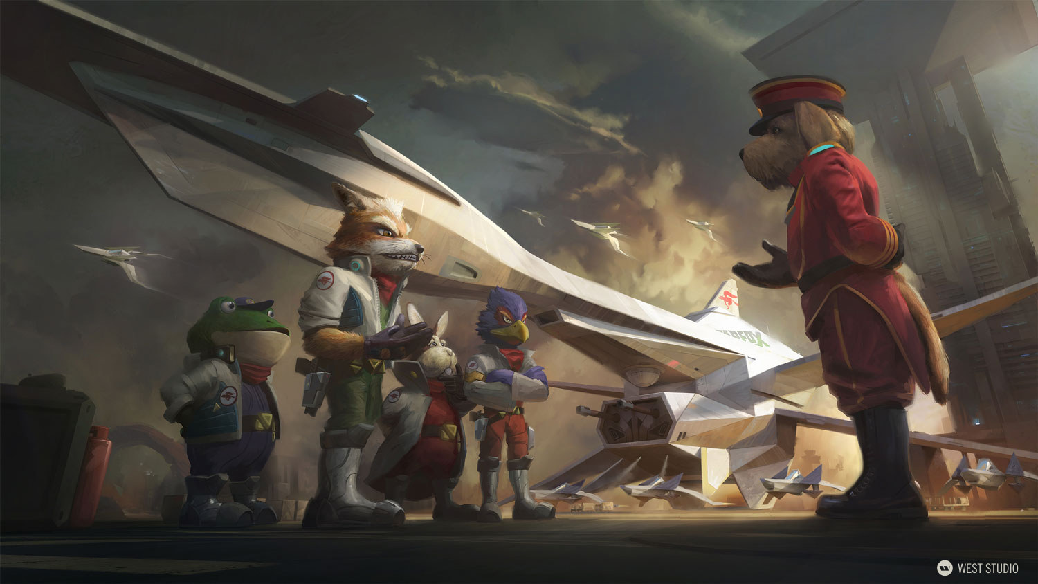 Star Fox, Nintendo, airship, scale, fantasy, sci-fi
