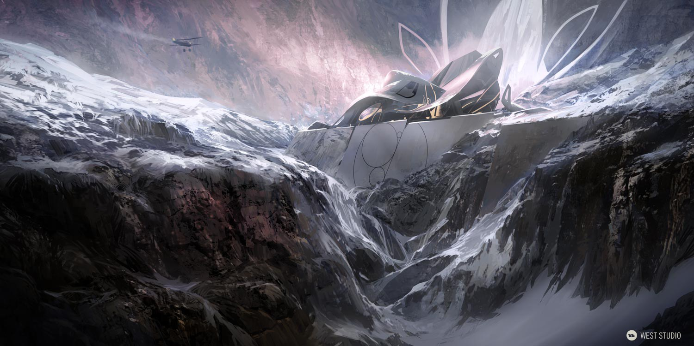 temple, ice, frozen, rock, hidden, discovery