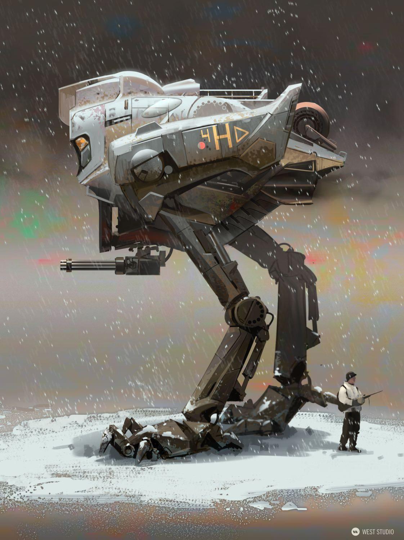mech, robot, vehicle, walker, chicken