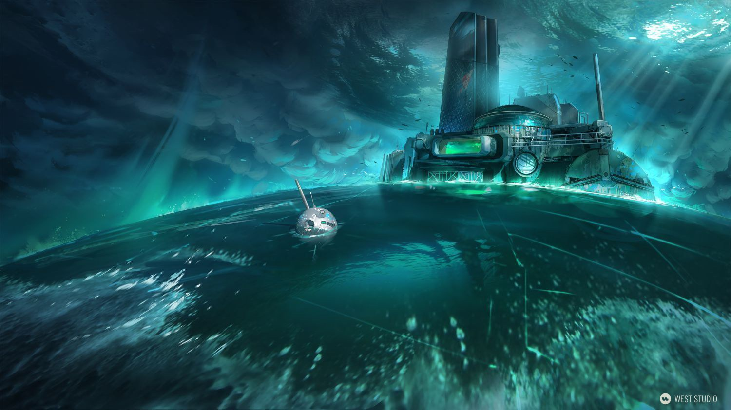underwater, labratory, mysterious, waves