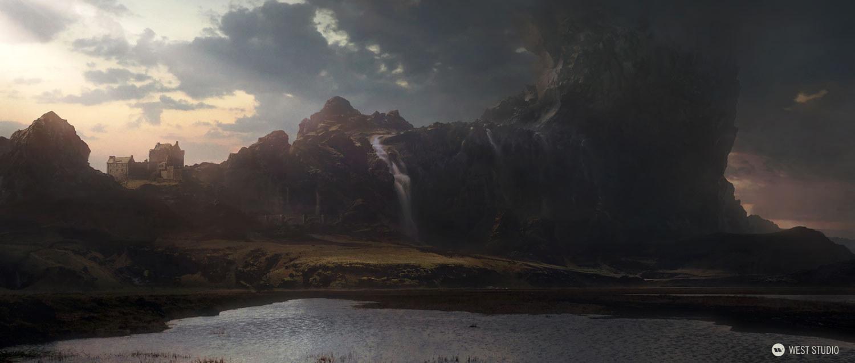 rock formation, mushroom, mountain, epic, fantasy