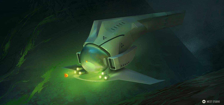 submarine, underwater, sci-fi, futuristic