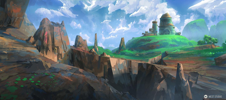 architecture, fantasy, village, colony