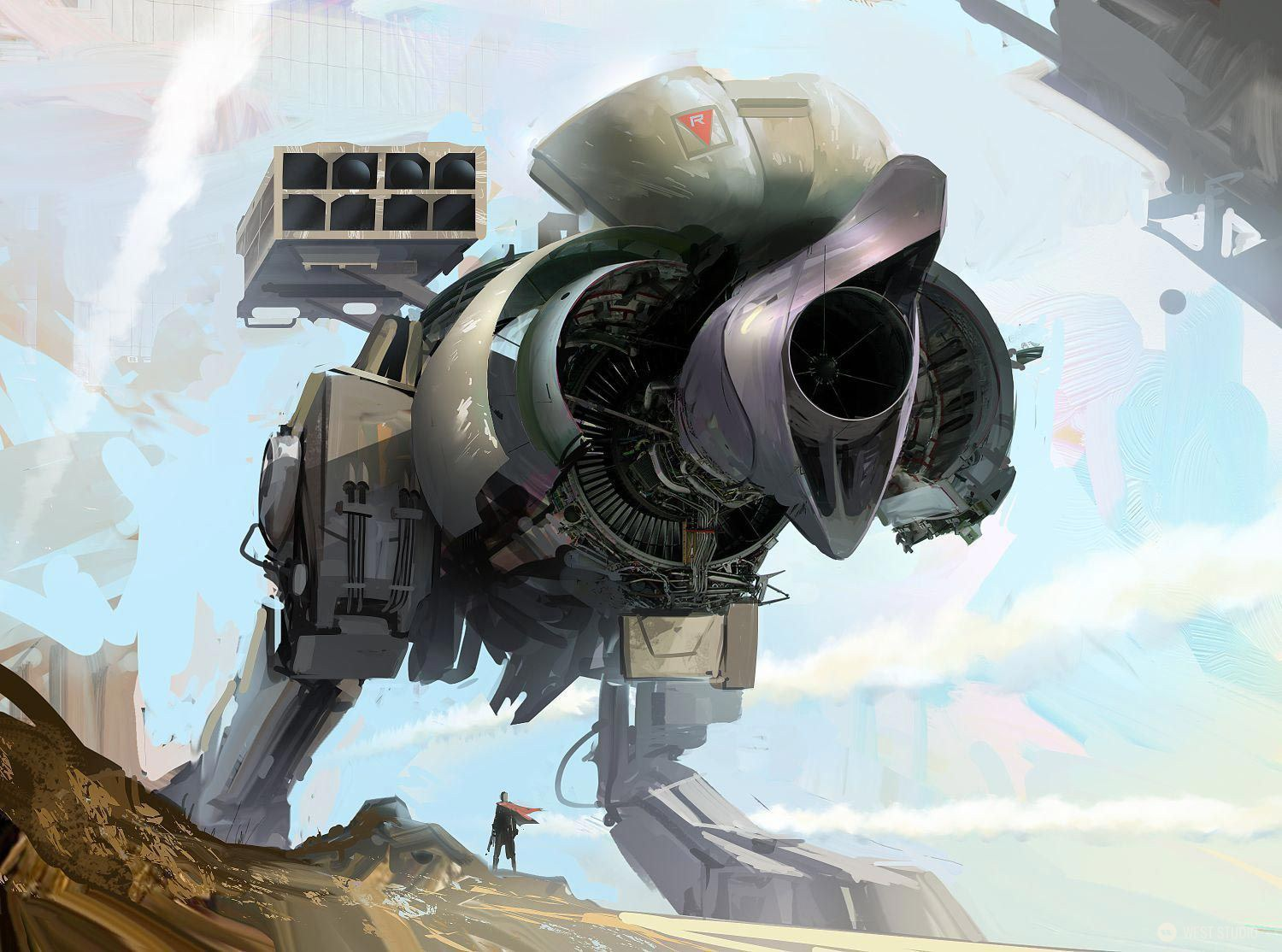 mech, speed painting, walker, loose
