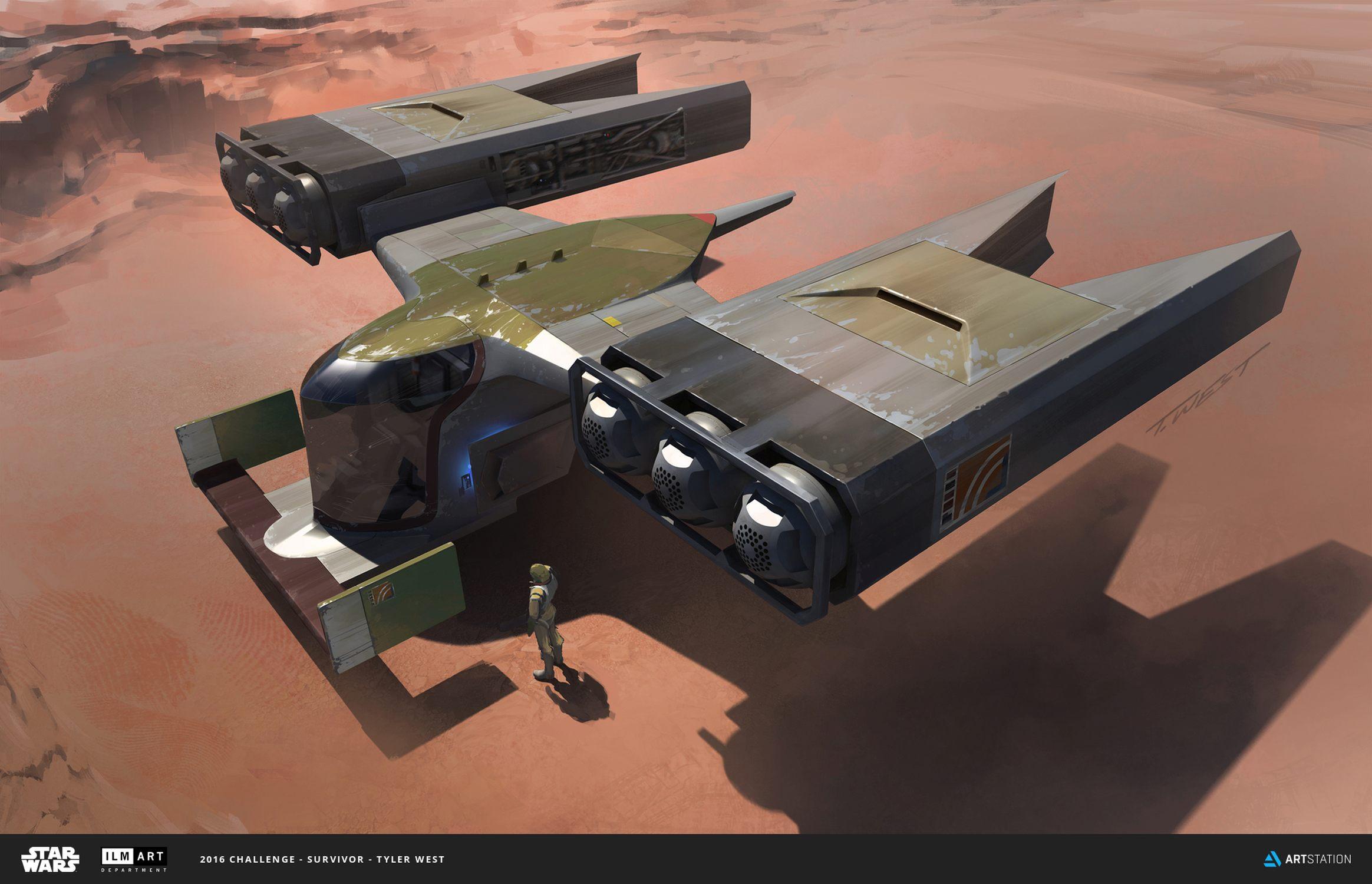 ILM, Star Wars, Bossk, bounty hunter, spaceship