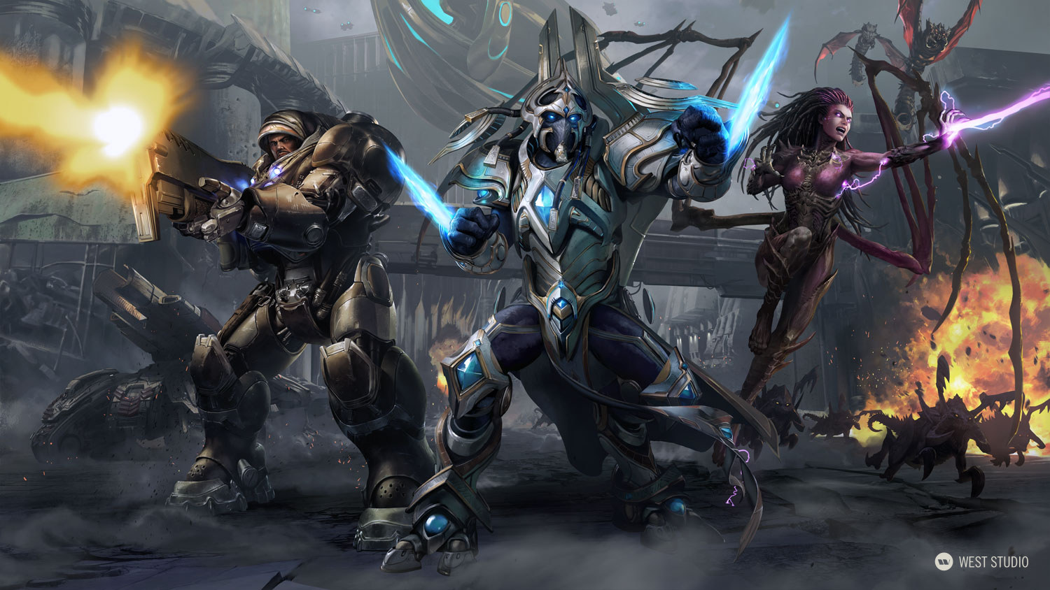 Key Art, Marketing Illustration, StarCraft II, Blizzard